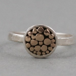 gold dots circle ring