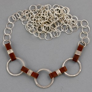 leather and rings chain