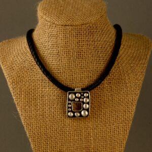 square dots pendant